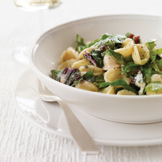 Orecchiette with Sautéed Greens and Scallion Sauce