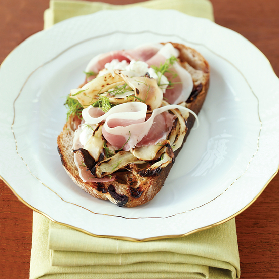 Prosciutto and Grilled Fennel Sandwiches