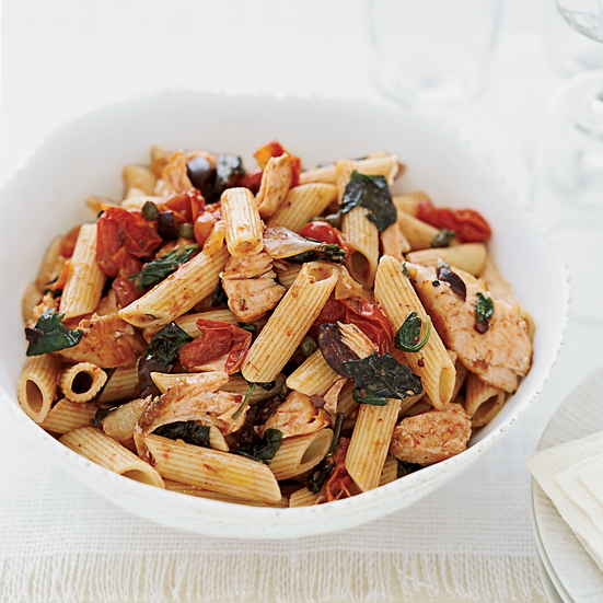 Penne with SalmonPenne with Salmon Puttanesca
