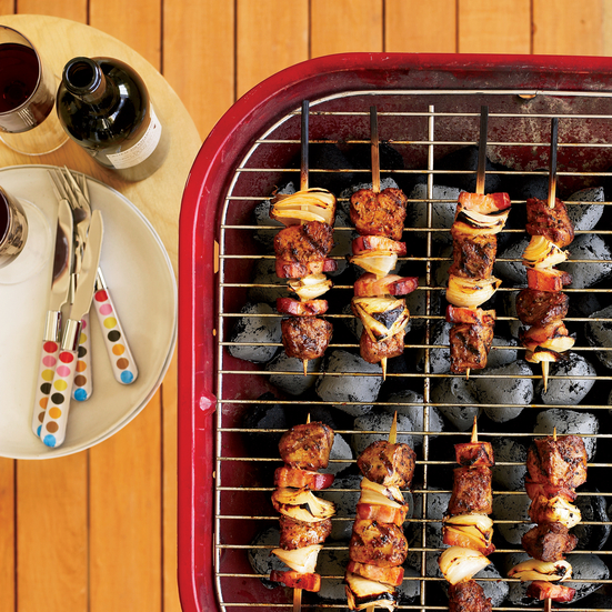 Pork and Bacon Kebabs