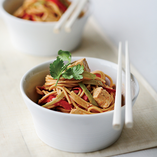 Cold Peanut Noodles with Tofu and Red Peppers Recipe ...