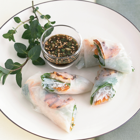 Grilled Shrimp Summer Rolls Recipe - Emeril Lagasse | Food & Wine