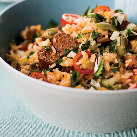 Rice Salad with Merguez and Preserved Lemon Dressing Recipe - Melissa ...