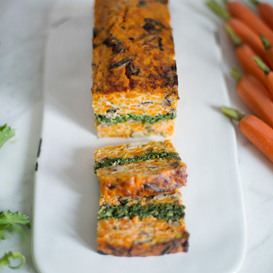 Savory Baked Carrot and Broccoli Rabe Terrine