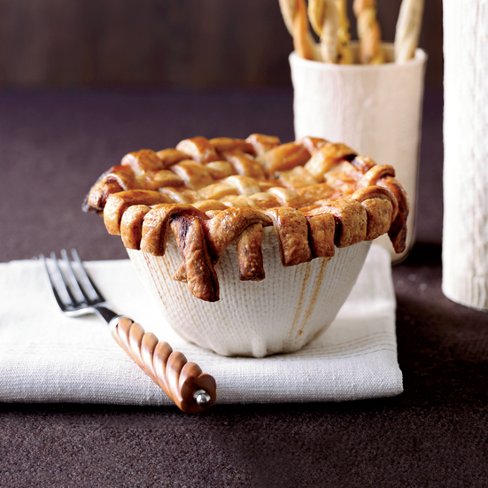 Lattice-Crusted Minestrone Pot Pies