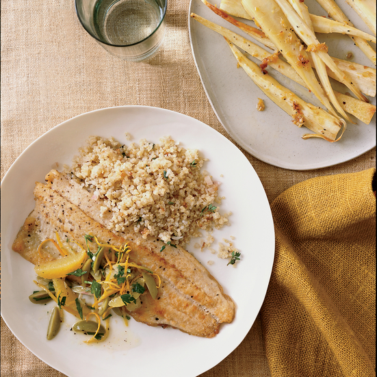 Sautéed Trout with Citrus-Olive Relish