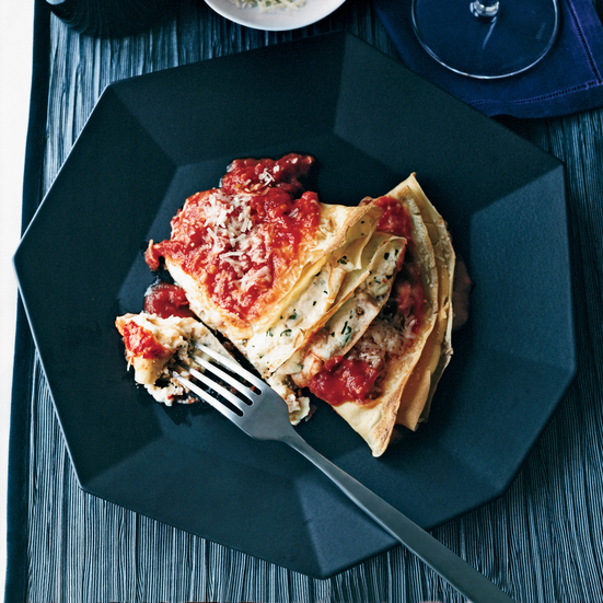 Crespelle with Ricotta and Marinara
