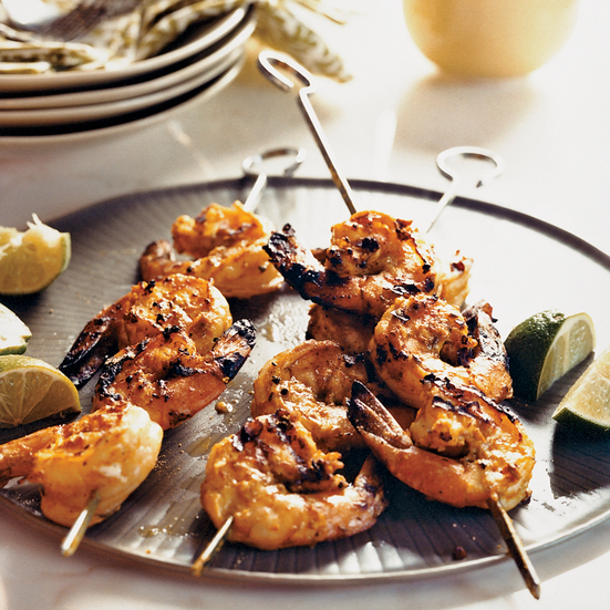 Grilled Sour Cream–Marinated Shrimp