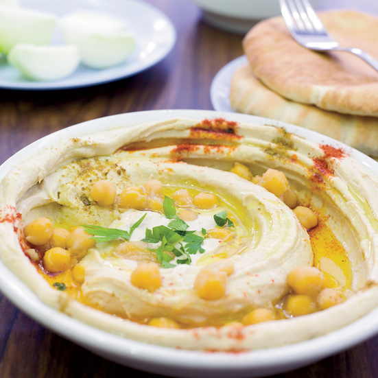 Hummus Dip with Whole Chickpeas