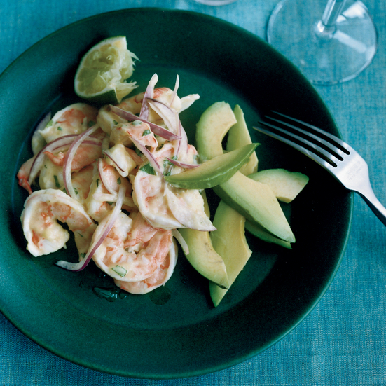 Shrimp-and-Avocado Salad with Mango Dressing Recipe - Bradford ...