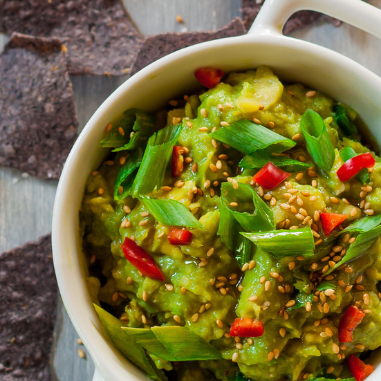 Thai Guacamole with Sesame and Scallion