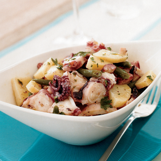 Octopus Salad with Potatoes and Green Beans