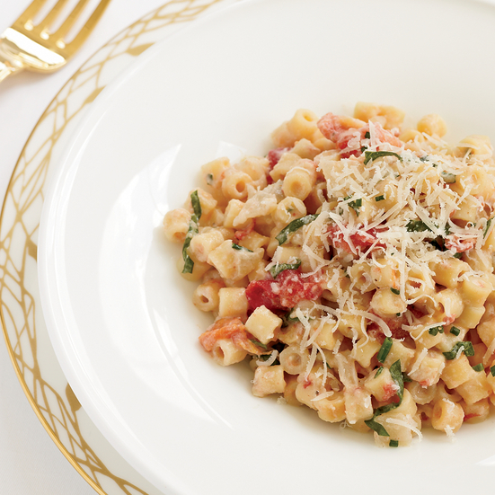 Creamy Pasta with Tomato Confit and Fresh Goat Cheese Recipe ...