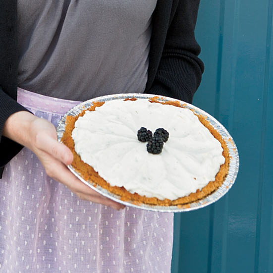 Lime Cream-Blackberry Pie