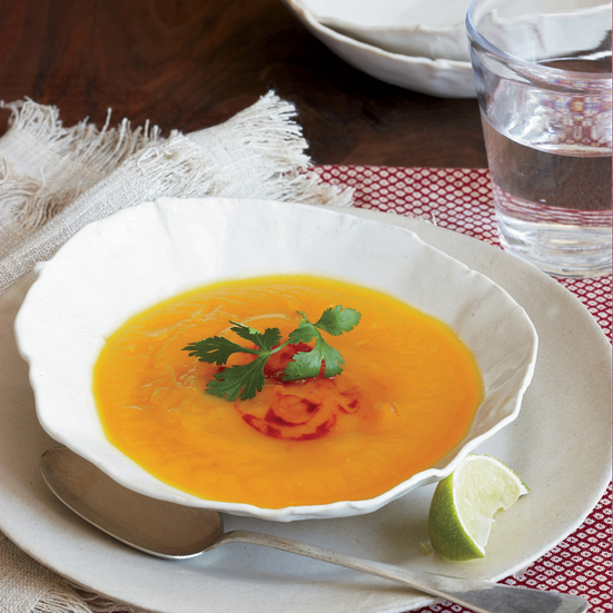 Gingery Sweet Potato Soup
