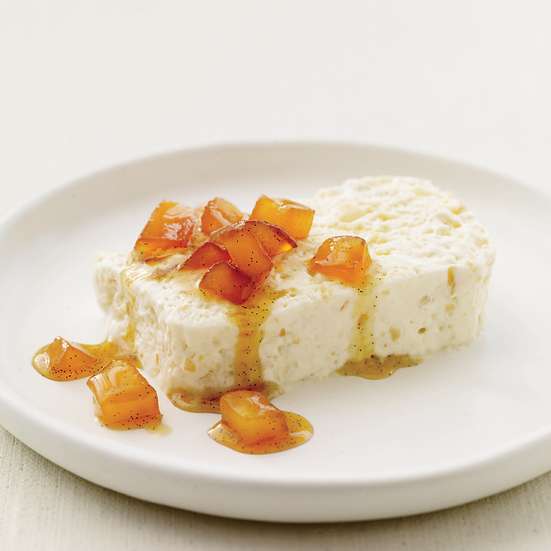 Almond Semifreddo with Caramelized Apples