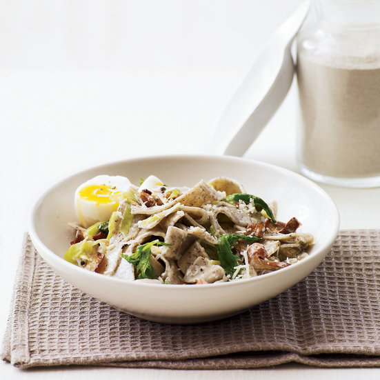 Creamy Buckwheat Pasta with Wild Mushrooms