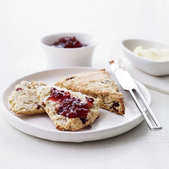 Orange-Cranberry Scones with Turbinado Sugar