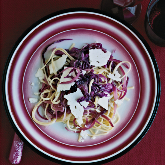 Linguine with Red Cabbage
