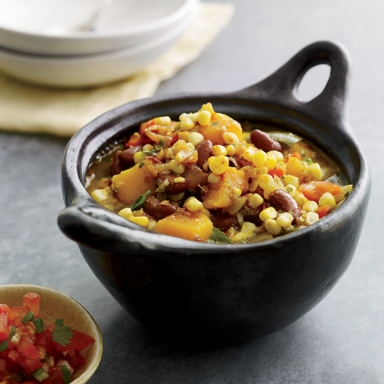Bean, Corn and Squash Stew