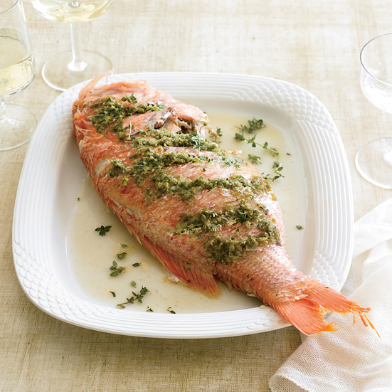 Roasted Whole Red Snapper Recipe Grace Parisi Food Wine