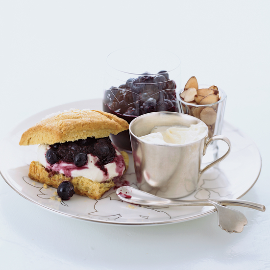 Blueberry-Almond Shortcakes with Creme Fraiche