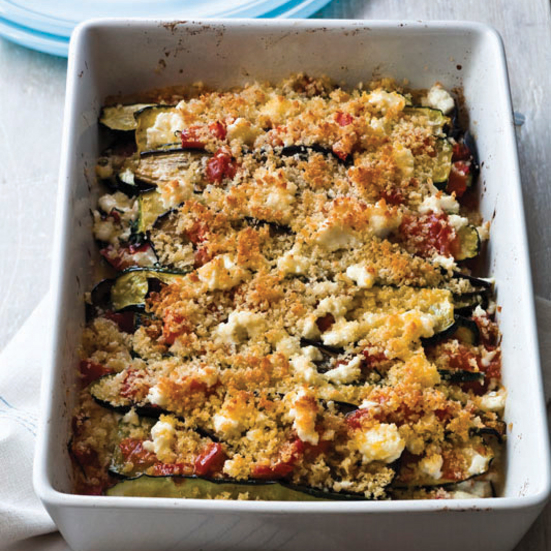Layered Eggplant, Zucchini and Tomato Casserole