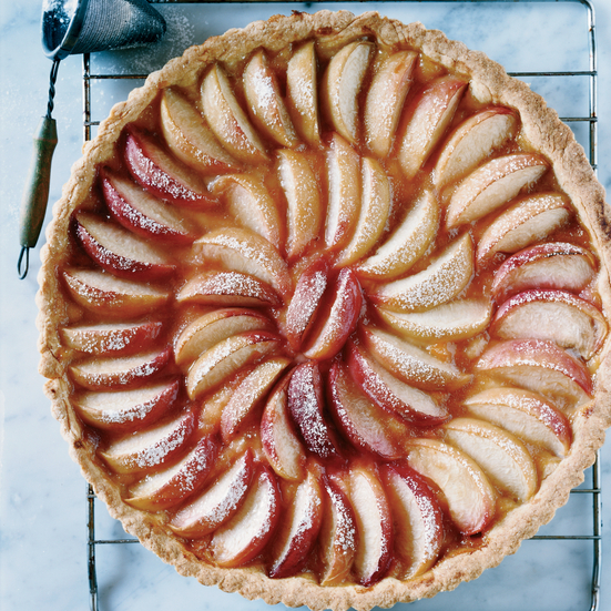 White Peach Tart