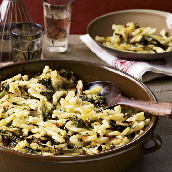 Pasta with Smothered Broccoli Rabe and Olives