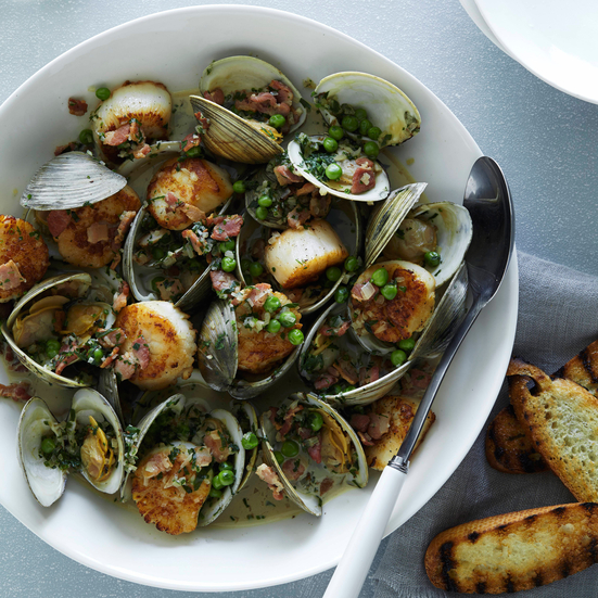 Smoky Shellfish Stew with Herbs