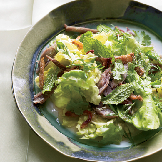 Thai Green Salad with Duck Cracklings