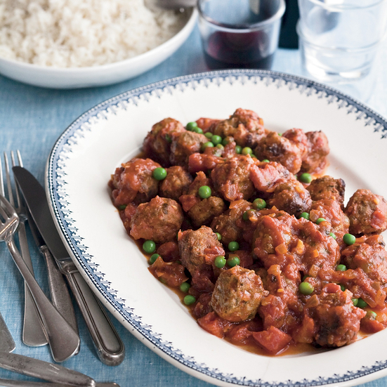 Meatballs with Peas