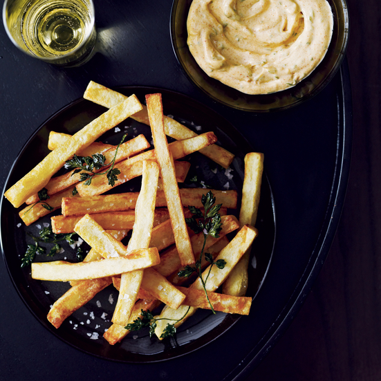 Hand-Cut Fries with Smoked Aioli.