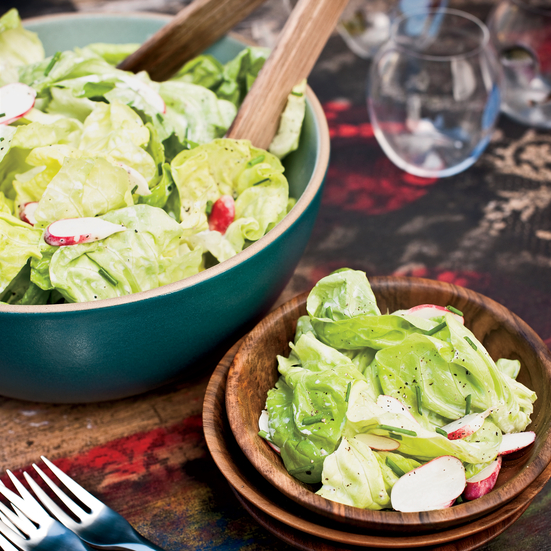 Bibb-and-Radish Salad with Buttermilk Dressing