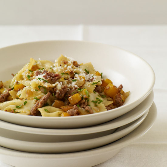 Farfalle with Spicy Sausage and Butternut Squash Recipe ...