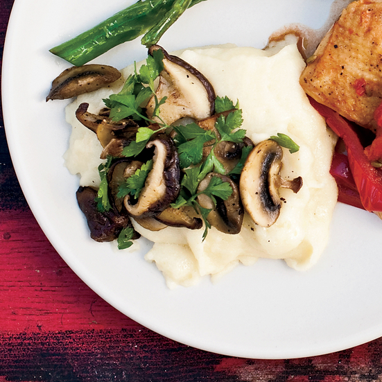 Creamy Semolina with Roasted Mushrooms