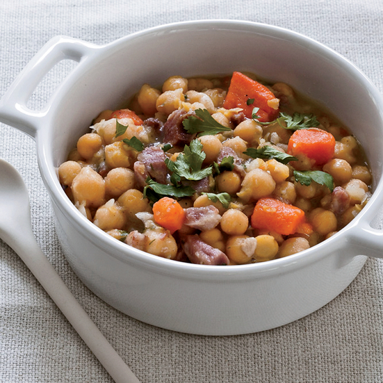 Slow Cooker Ham Hock and Chickpea Stew