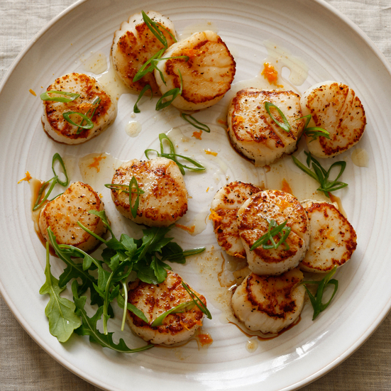 Seared Scallops with Orange and Vermouth