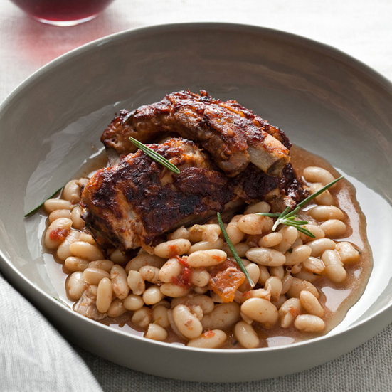 Slow Cooker Glazed Pork Ribs with White Beans Recipe ...