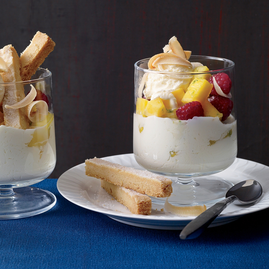 Tropical Fruit Sundaes