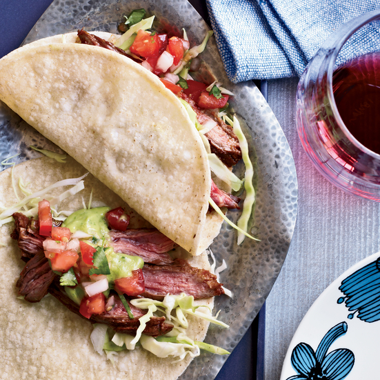 Chile-Spiced Skirt Steak Tacos Recipe - Jesse Vendley | Food & Wine