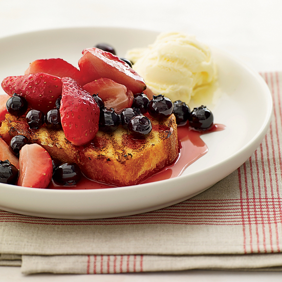 Mixed Berries with Grilled Pound Cake