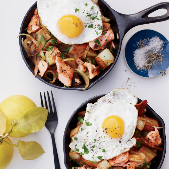 Salmon, Bacon and Potato Hash