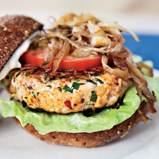Michelle's Turkey Burgers with Lemon Mayonnaise