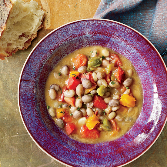 Fresh Shell Bean and Tomato Stew