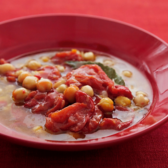 Lemony Chickpea and Oven-Dried Tomato Stew