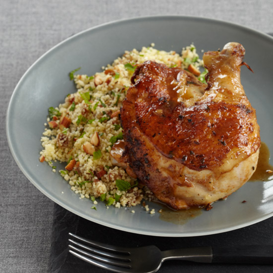 Moroccan Chicken with Minty Date Couscous