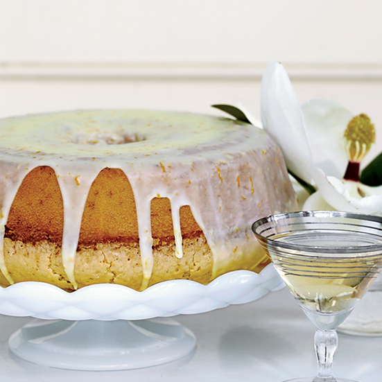 Lemon Glazed Orange Chiffon Cake