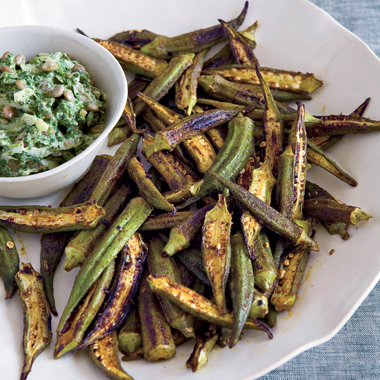 Skillet-Roasted Spiced Okra