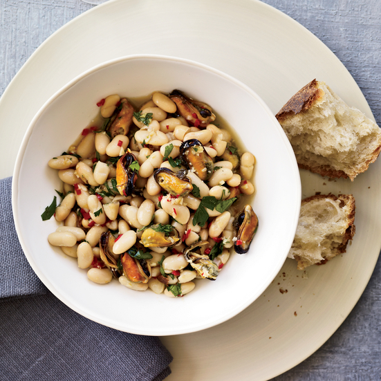 Mussel-and-White-Bean Stew
